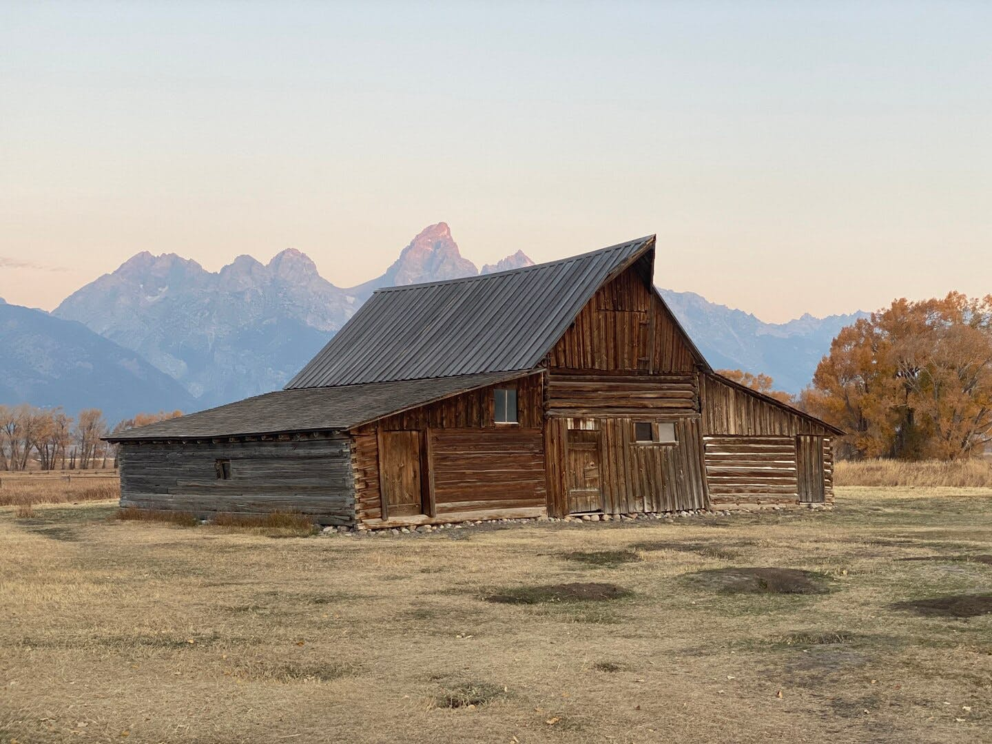 An early morning in Jackson, Wyoming